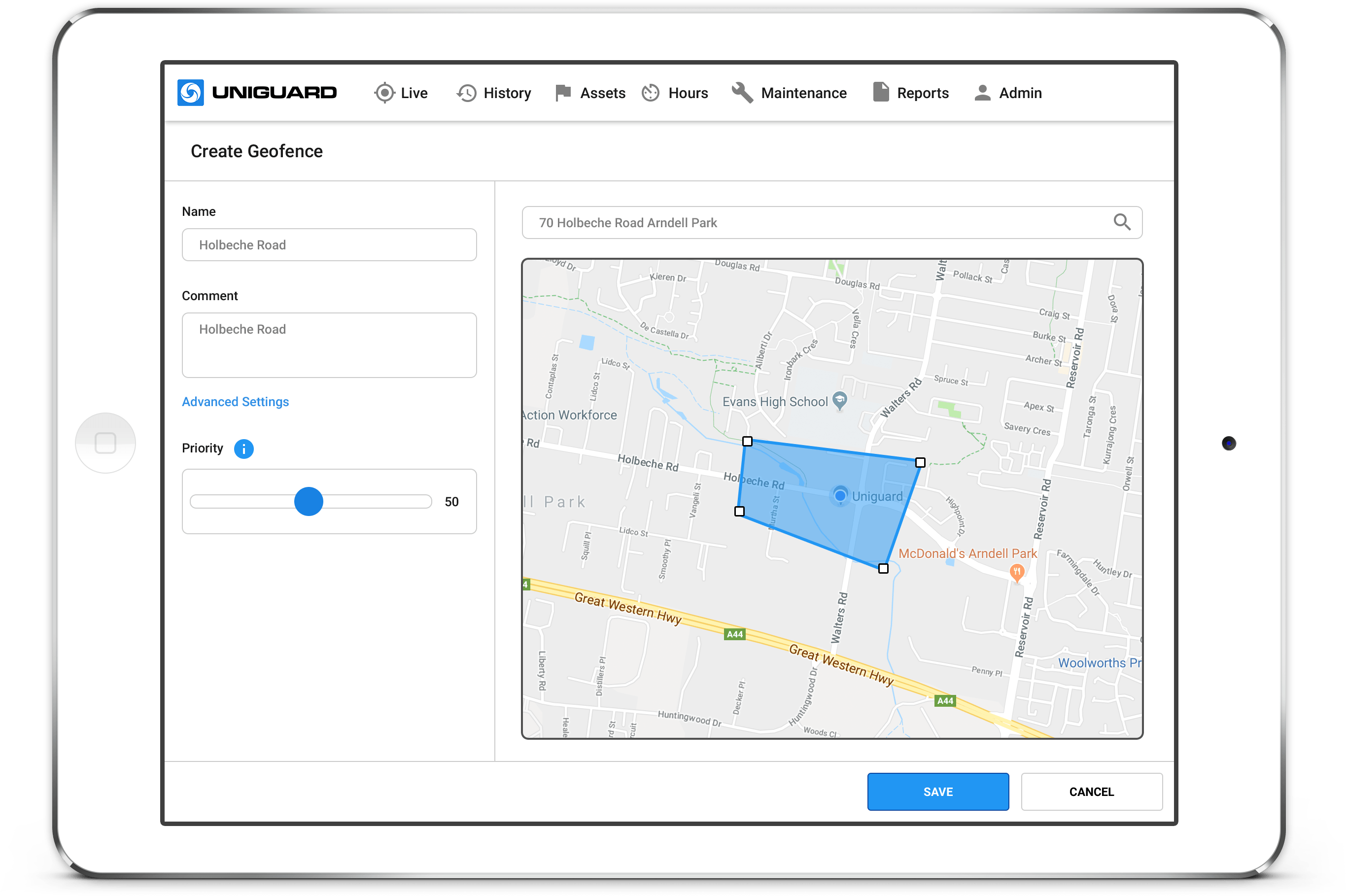 GPS Fleet Tracking Geofence