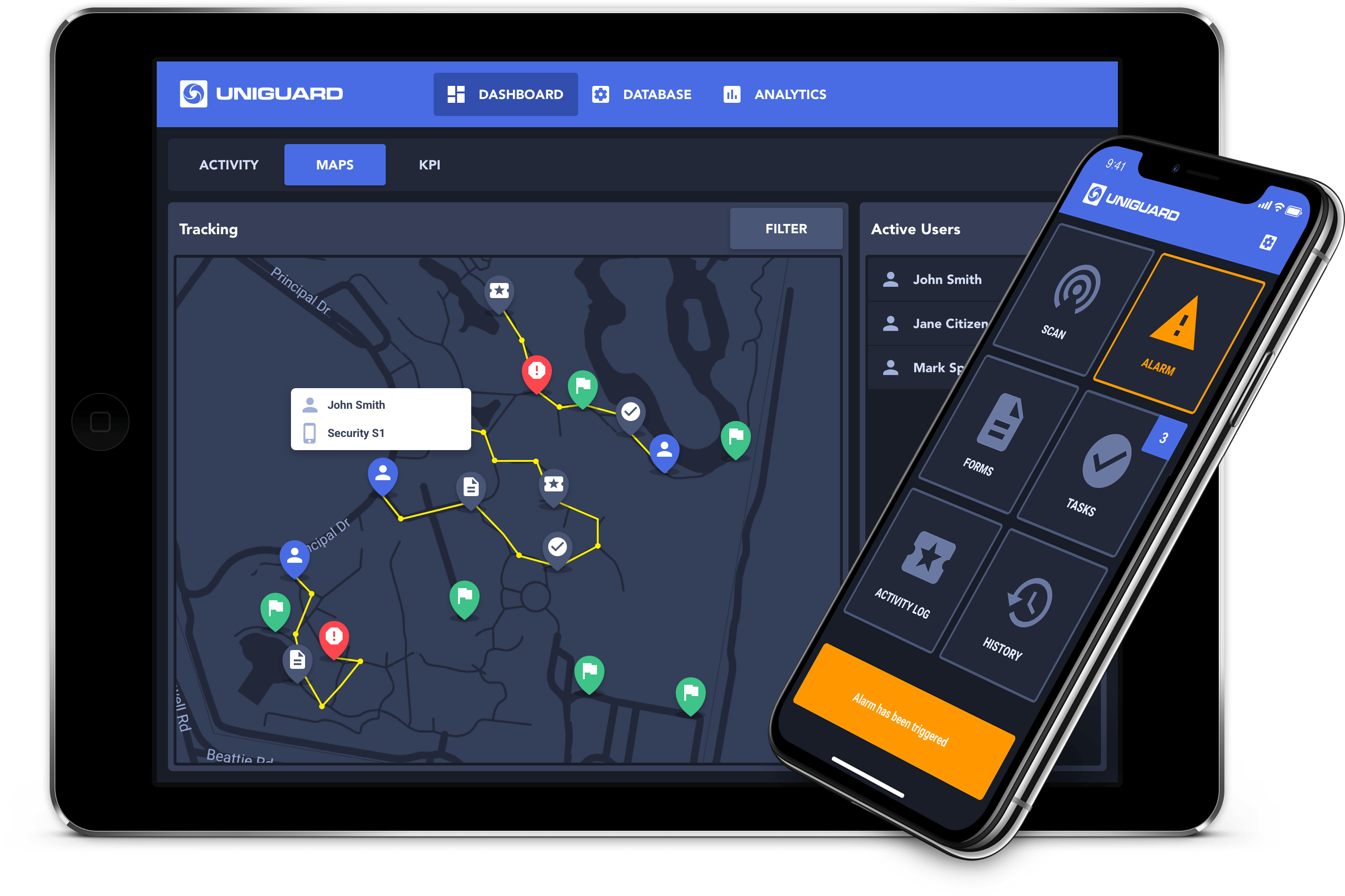 UniGuard Live GPS Tracking & Mobile