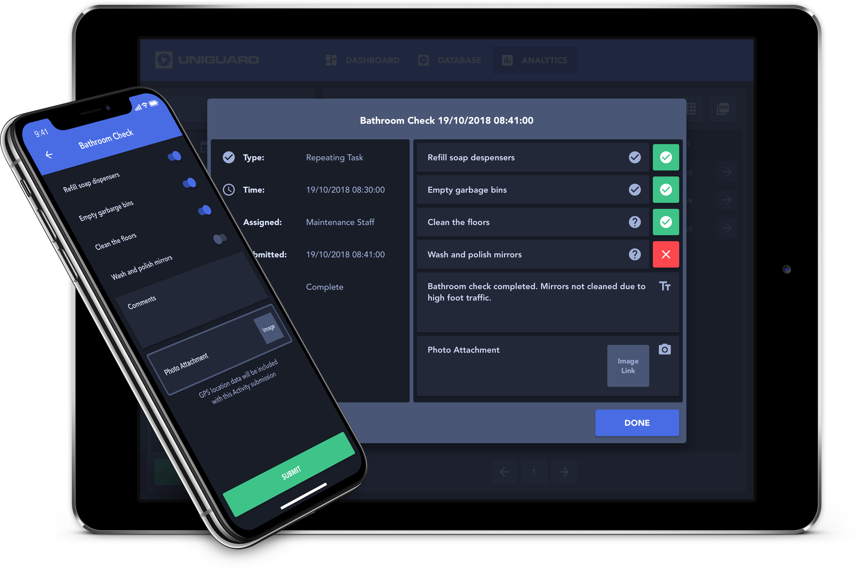 UniGuard Task Dispatch Web & Mobile