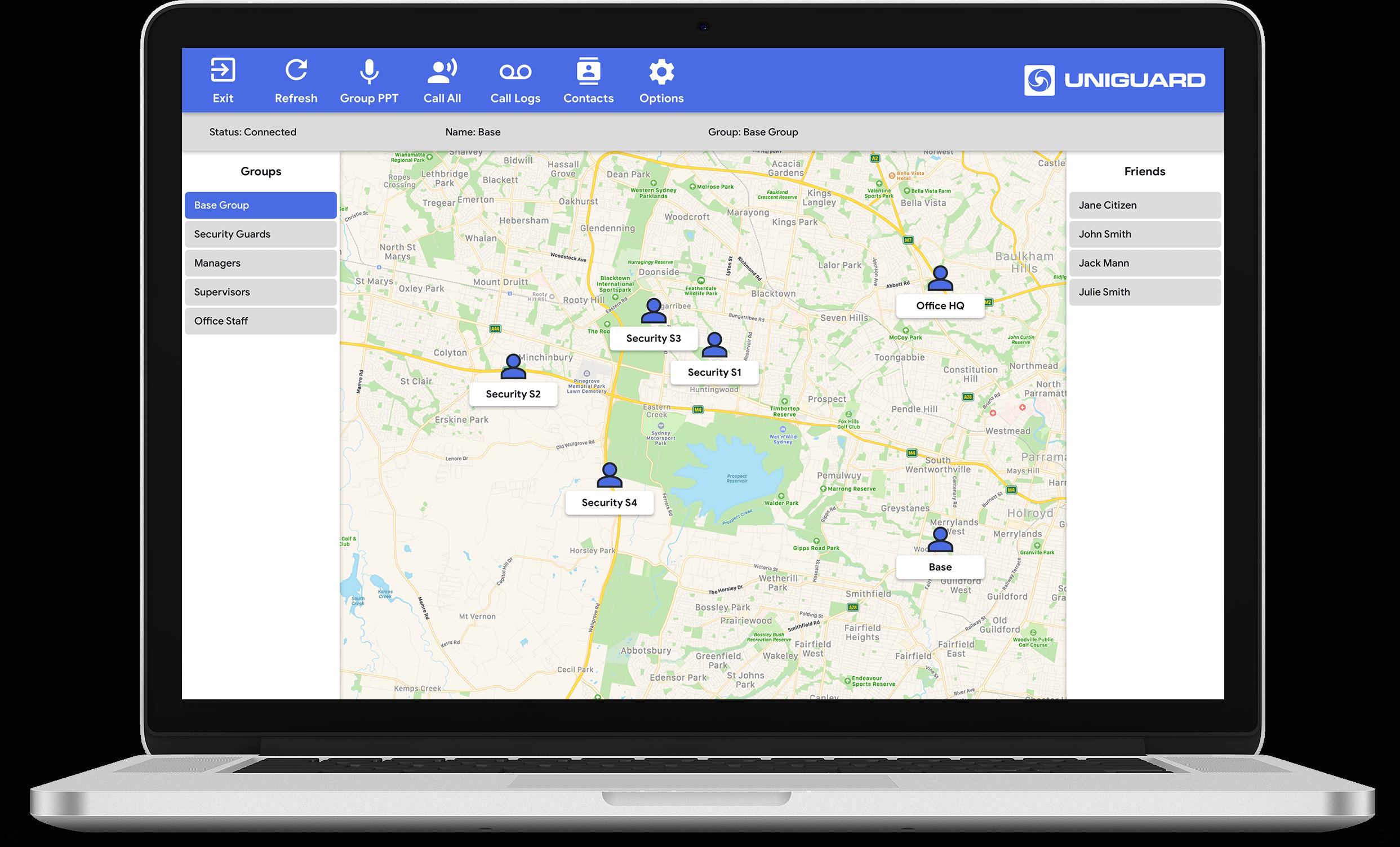 PTT GPS Dispatcher Software